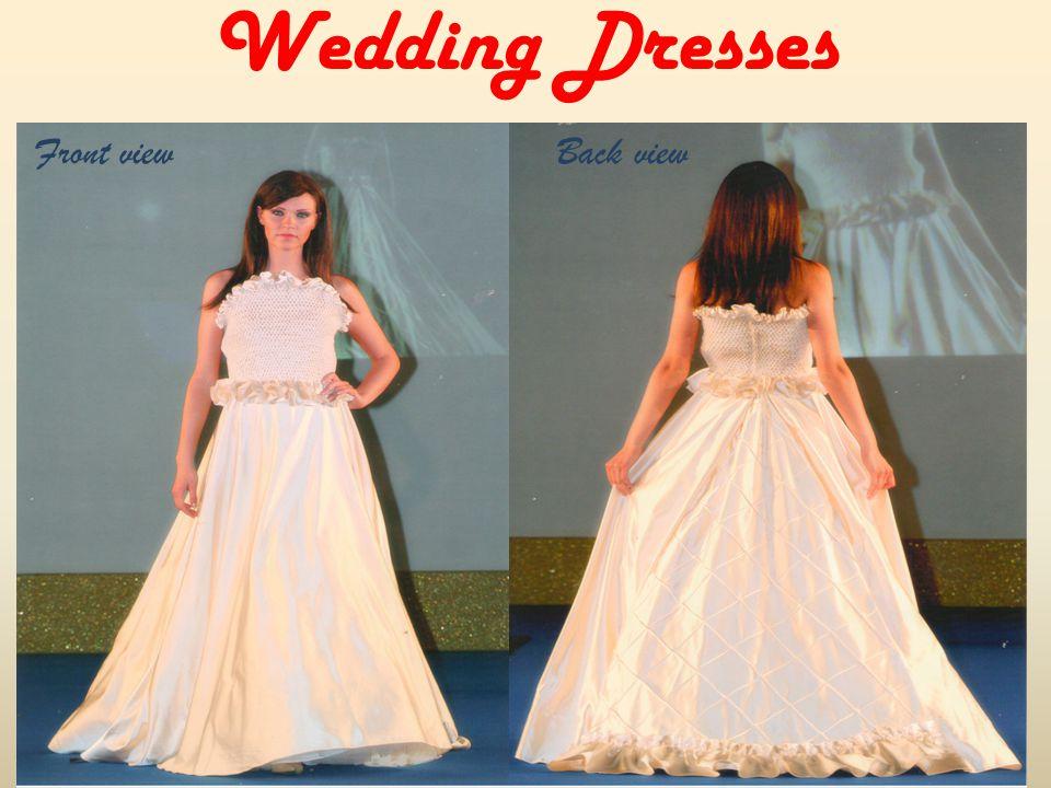 Wedding Dresses Back viewFront view