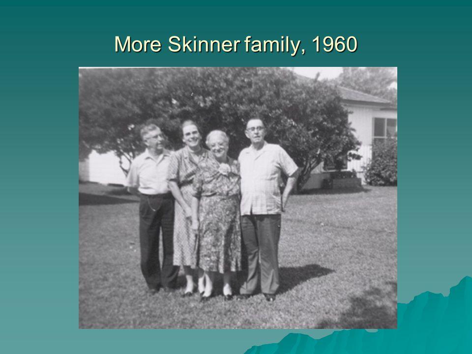 More Skinner family, 1960
