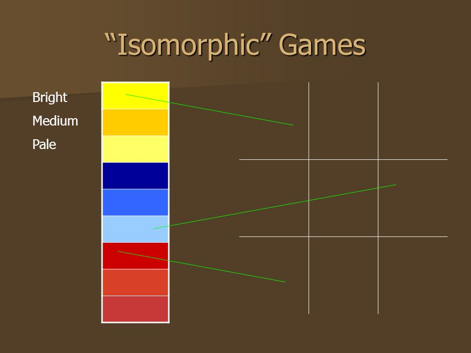 """Isomorphic"" Games Bright Medium Pale"