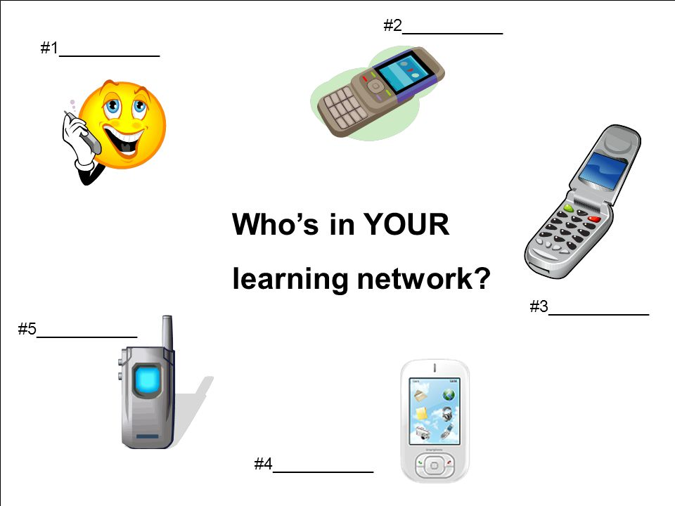 #1___________ #2___________ #3___________ #5___________ #4___________ Who's in YOUR learning network?
