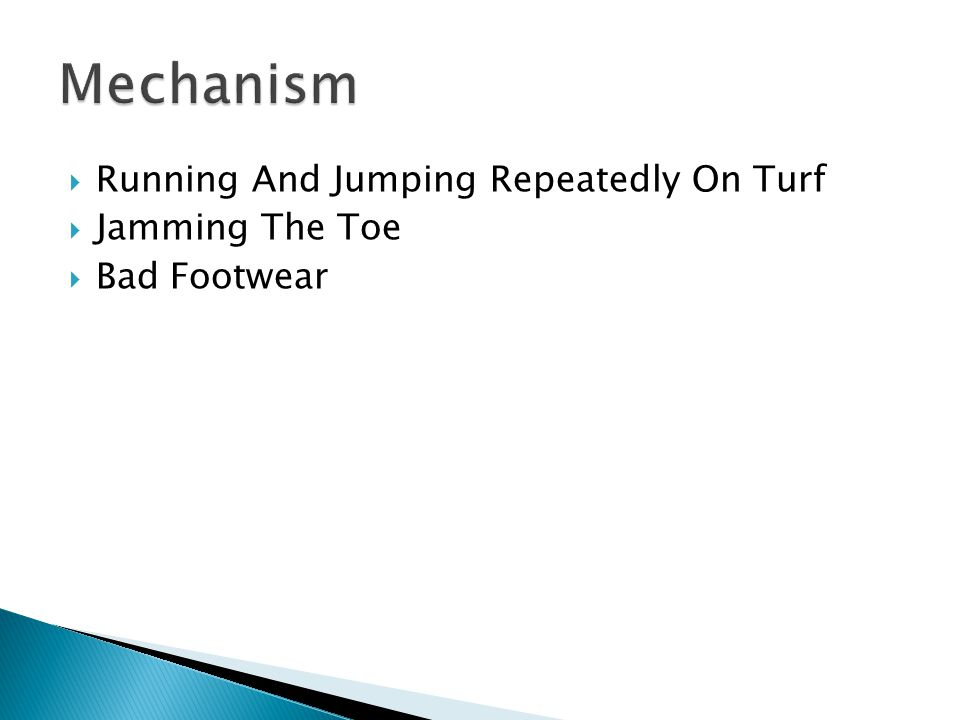  Running And Jumping Repeatedly On Turf  Jamming The Toe  Bad Footwear