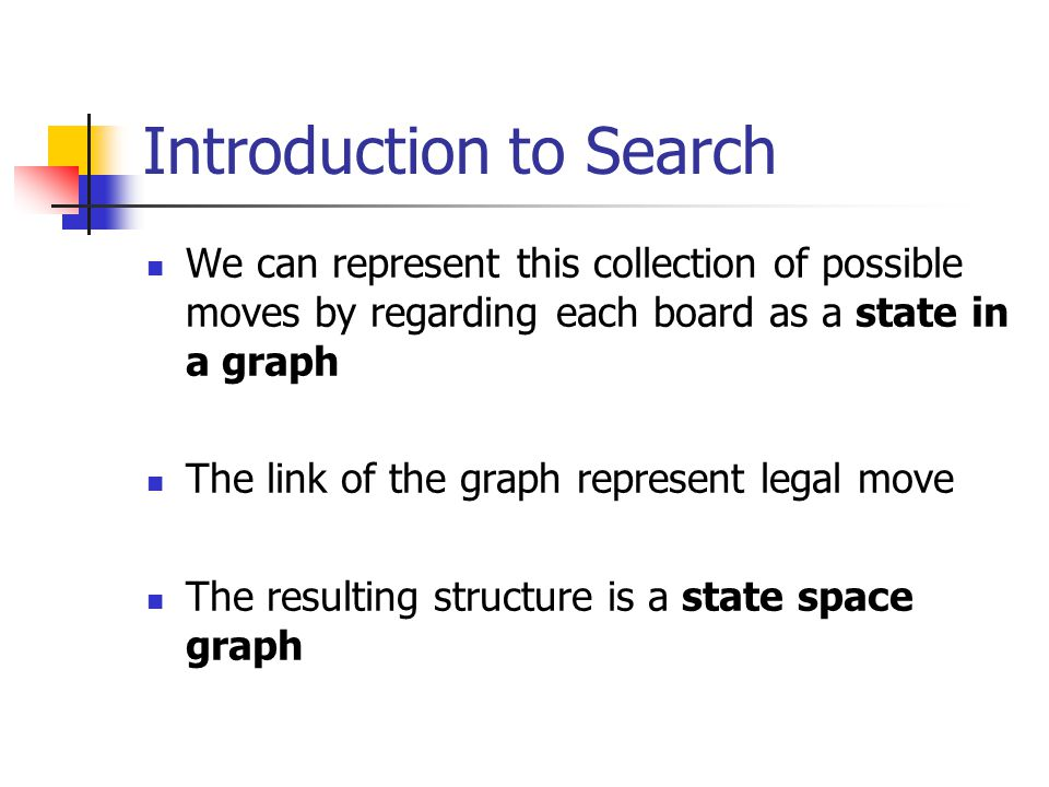 Consider 3D tic-tac-toe.How to represent state search space.