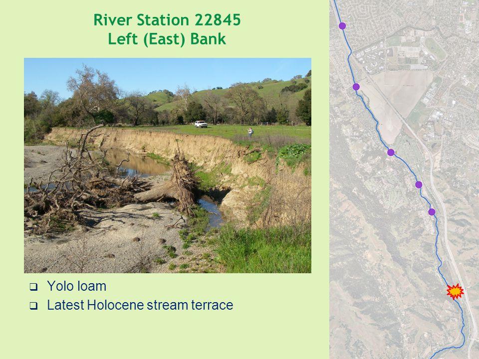 River Station 22845 Left (East) Bank  Yolo loam  Latest Holocene stream terrace