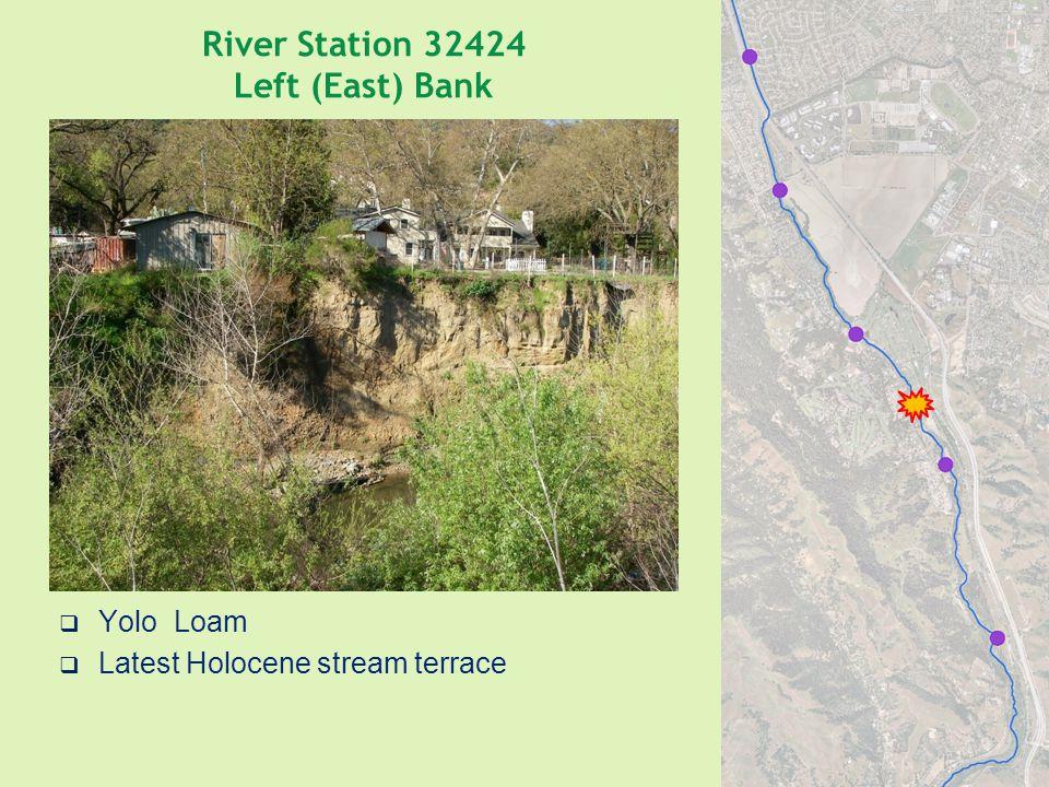 River Station 32424 Left (East) Bank  Yolo Loam  Latest Holocene stream terrace