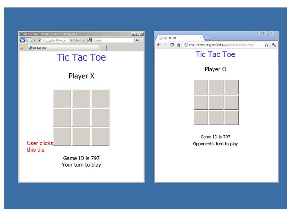 User clicks this tile