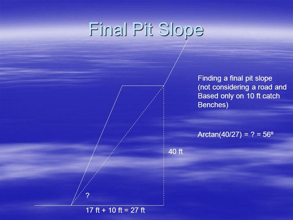 Final Pit Slope 17 ft + 10 ft = 27 ft 40 ft .