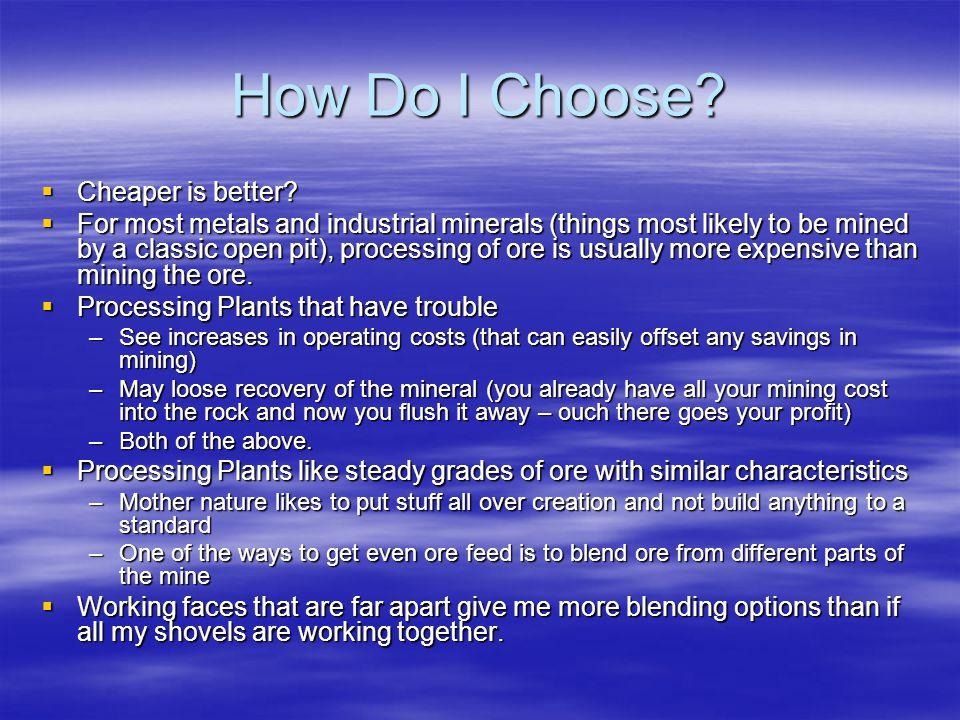 How Do I Choose. Cheaper is better.