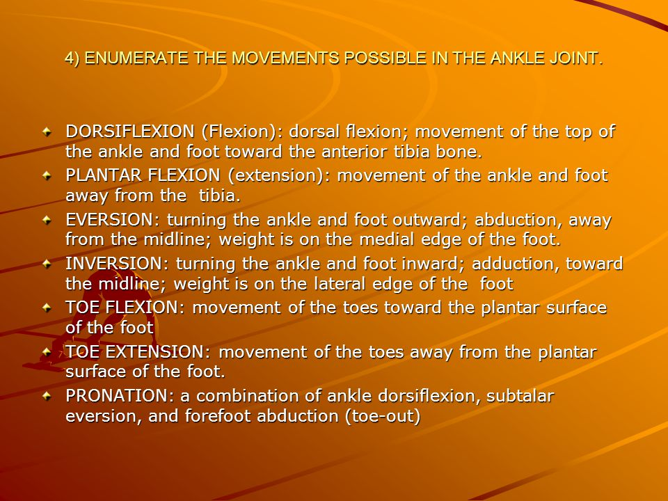 SUPINATION: a combination of ankle plantar flexion, subtalar inversion, and forefoot adduction (to-in).