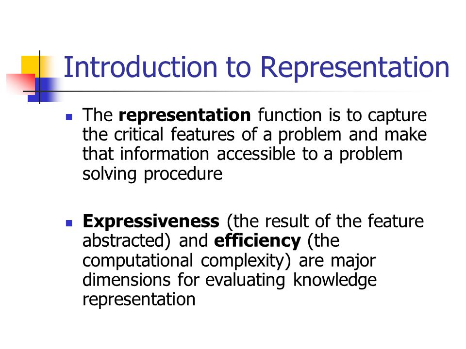 Introduction to Representation The computer representation of floating-point numbers illustrate these trade-off To be precise, real number require an infinite string of digits to be fully described.