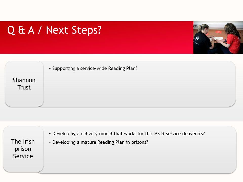 Q & A / Next Steps.