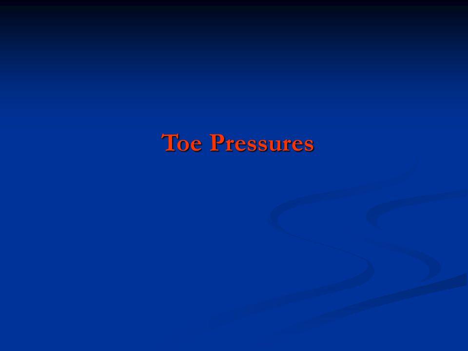 Toe Pressures