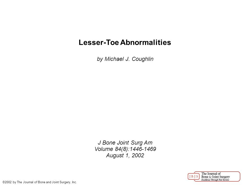 Lesser-Toe Abnormalities by Michael J.