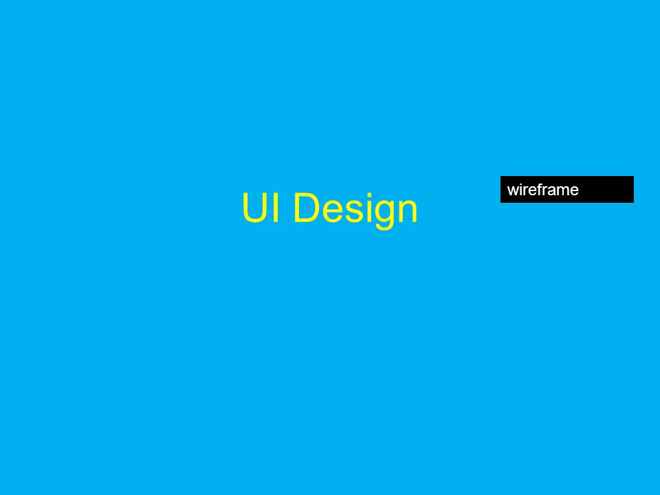UI Design wireframe