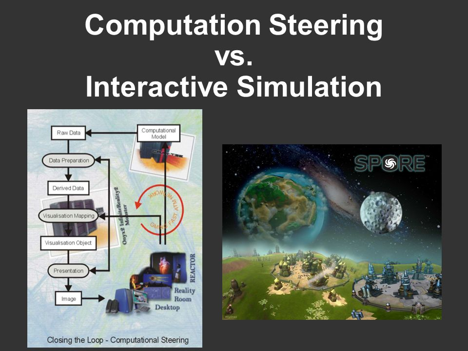 Computation Steering vs. Interactive Simulation