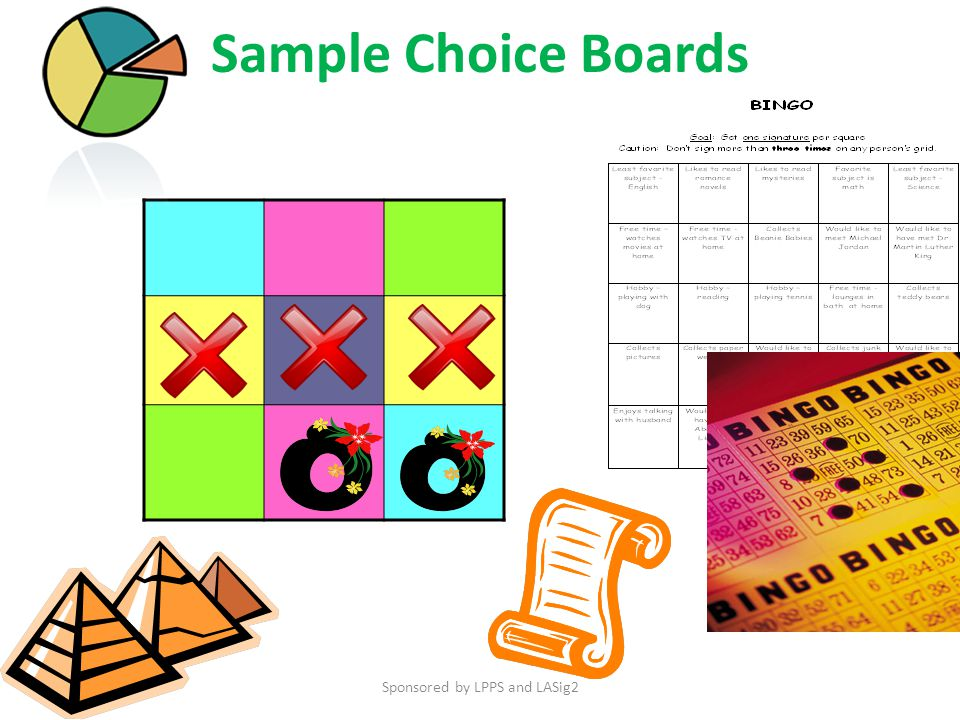 Sample Choice Boards Sponsored by LPPS and LASig2