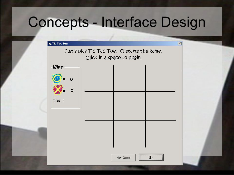 Concepts - Interface Design