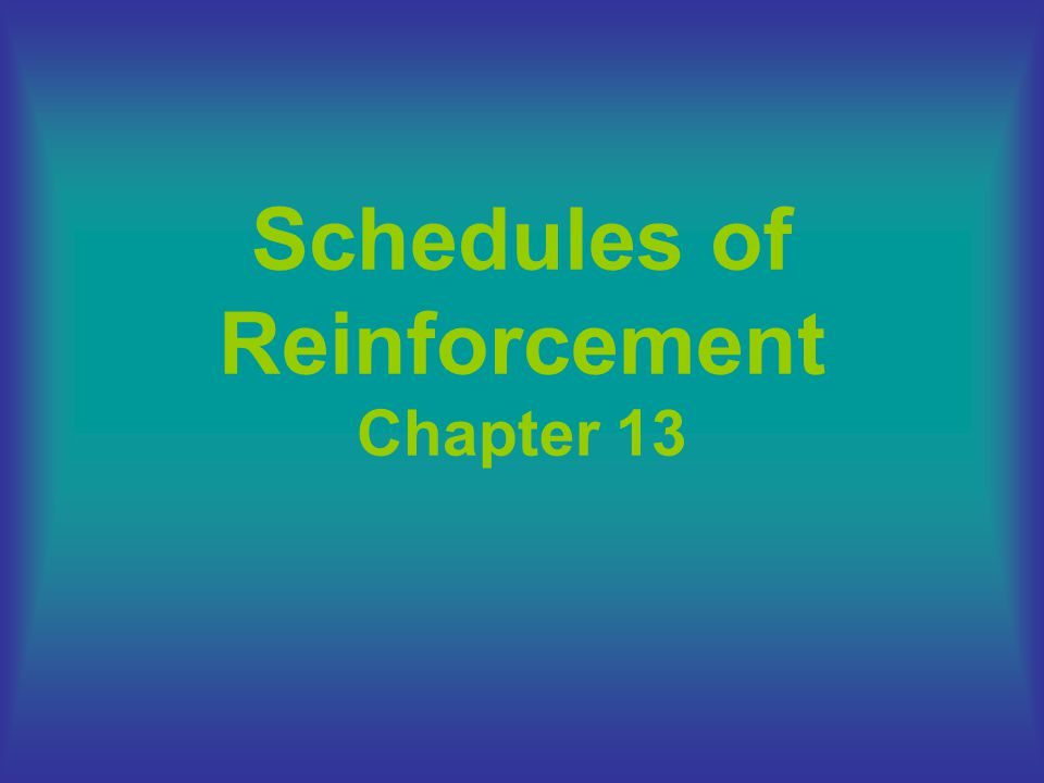 the reinforcer is delivered for the first behavior after an average period of time has elapsed –Designation: VI 60s –produces steady, moderate responding (no PRPs) –e.g., checking e-mail Limited Hold: a feature that can be added to any interval schedule –The behavior must occur after the interval has elapsed, but within a specific period of time –Designation: FI 5 min LH 30 s Variable Interval Schedule