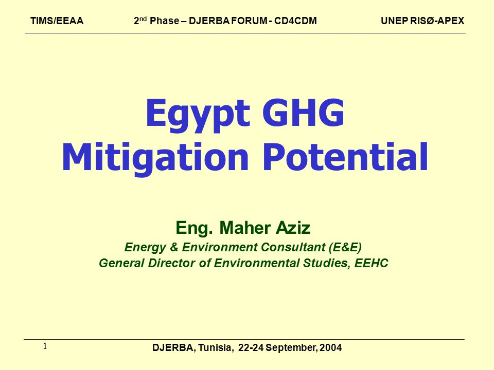 1 Egypt GHG Mitigation Potential Eng.