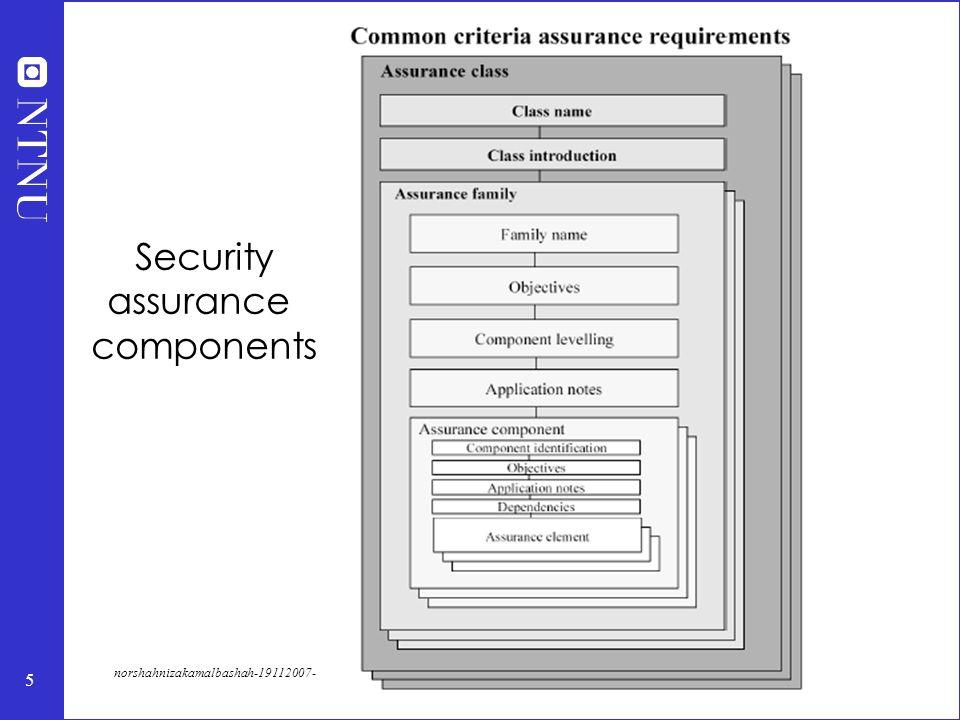 5 norshahnizakamalbashah-19112007- Security assurance components