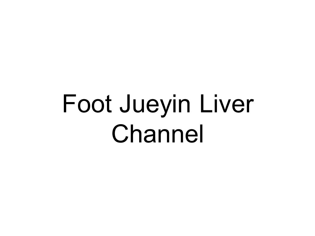 Foot Jueyin Liver Channel