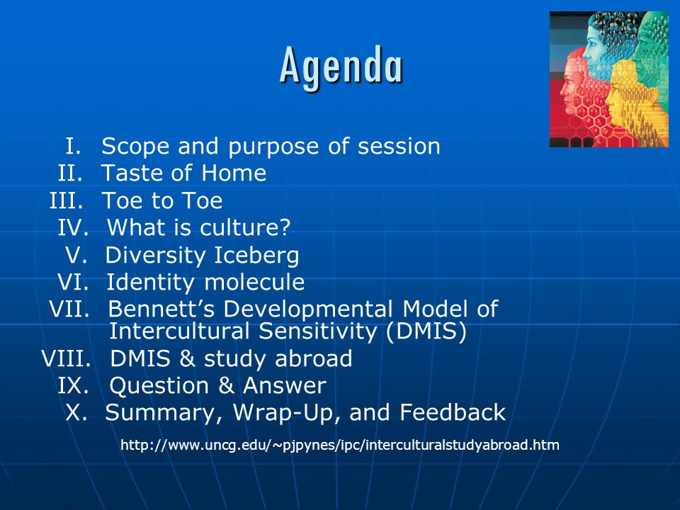 Agenda I.Scope and purpose of session II.Taste of Home III.