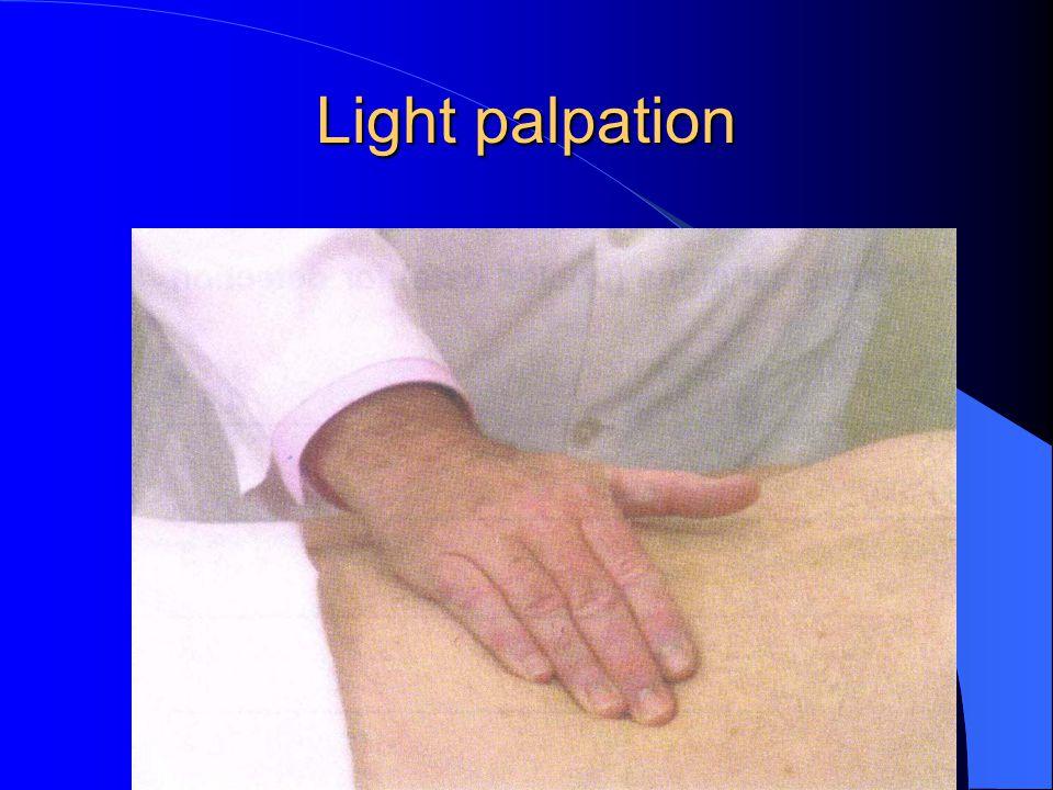 Light palpation