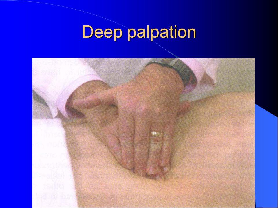 Deep palpation