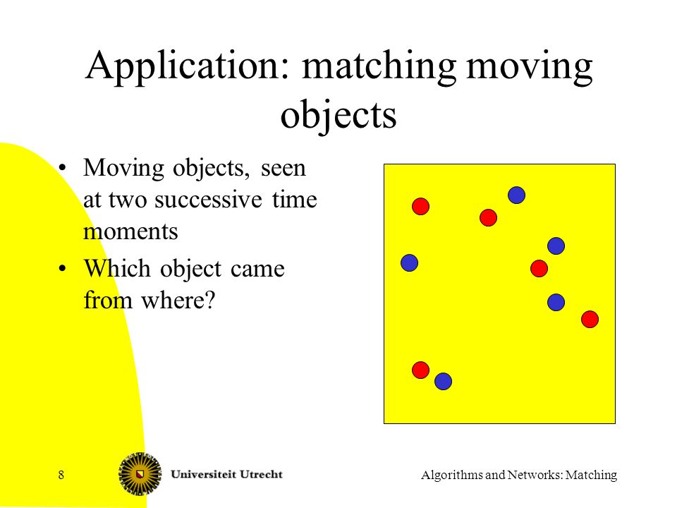 Algorithms and Networks: Matching39 Edge coloring and classroom schedules Teachers Class Some teachers should teach some classes but: –No teacher more than one class at a time –No class more than one lesson at the time –How many hours needed??.