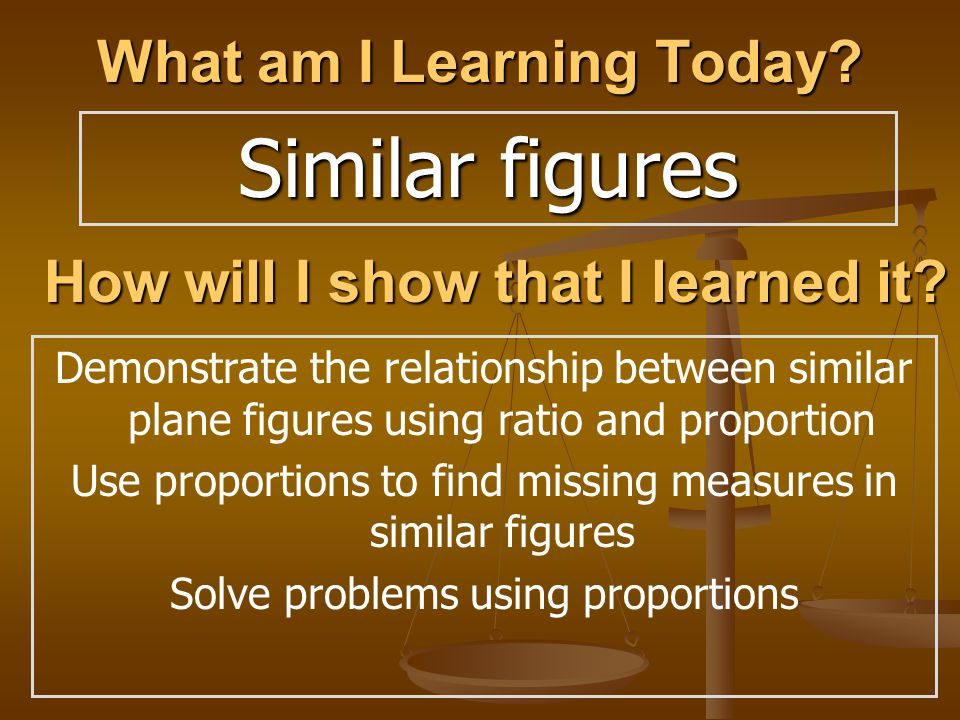 Similar figures What am I Learning Today. How will I show that I learned it.