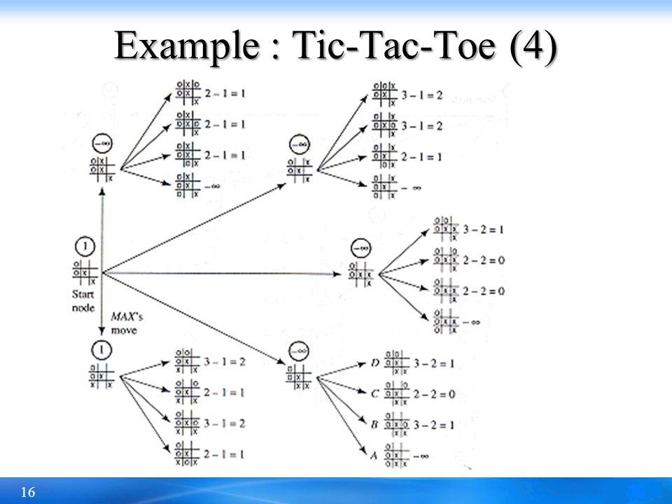 16 Example : Tic-Tac-Toe (4)