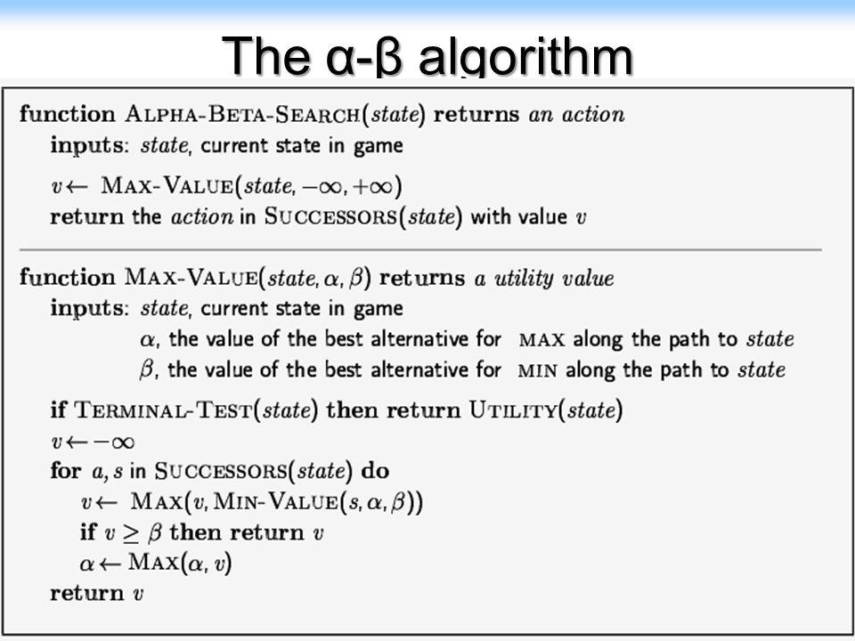 25 The α-β algorithm