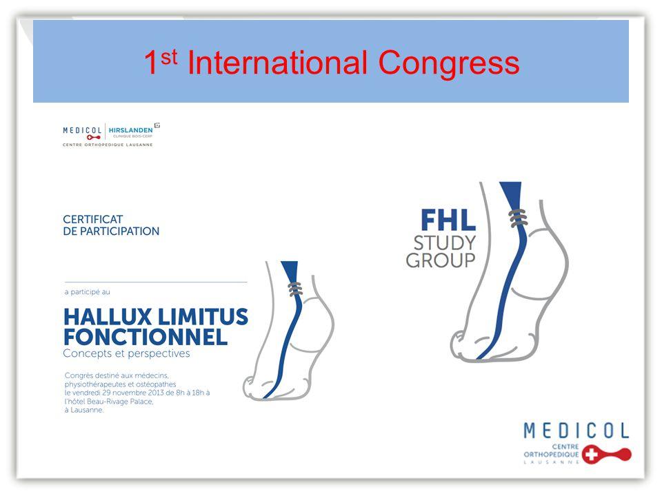1 st International Congress