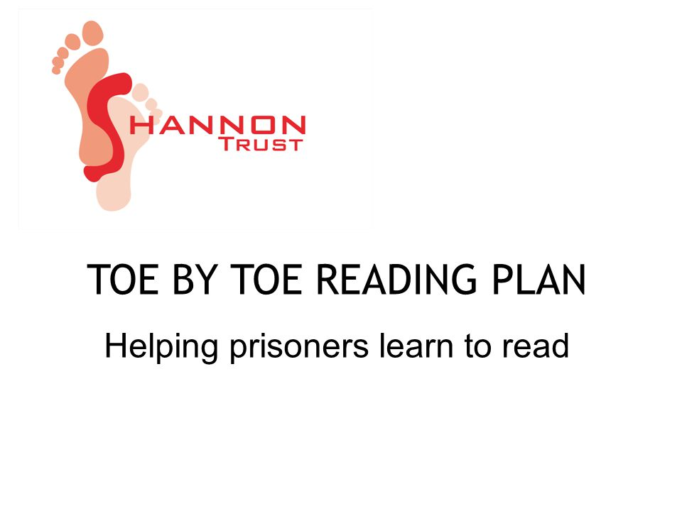 TOE BY TOE READING PLAN Helping prisoners learn to read