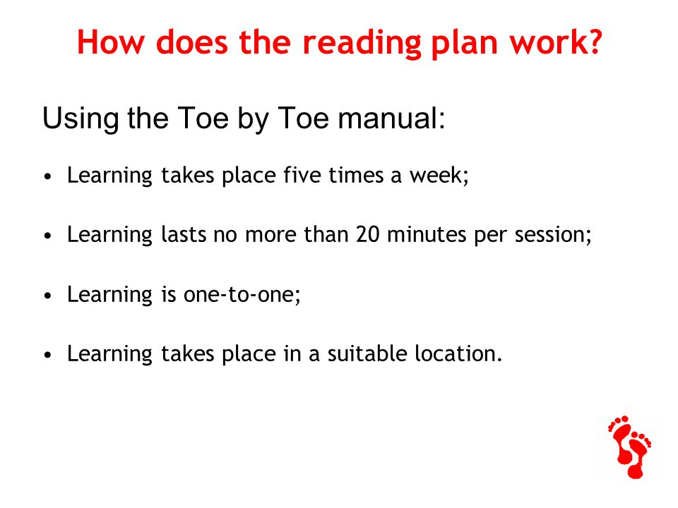 How does the reading plan work.