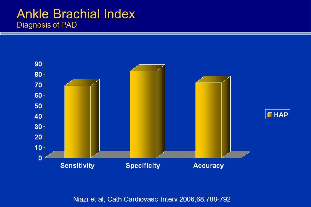 Ankle Brachial Index Diagnosis of PAD Niazi et al, Cath Cardiovasc Interv 2006;68:788-792