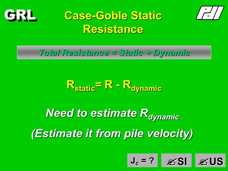 GRL Static Resistance example - US units 2L/c = 10ms Zv 2 F2F2F2F2 Zv 1 F1F1F1F1