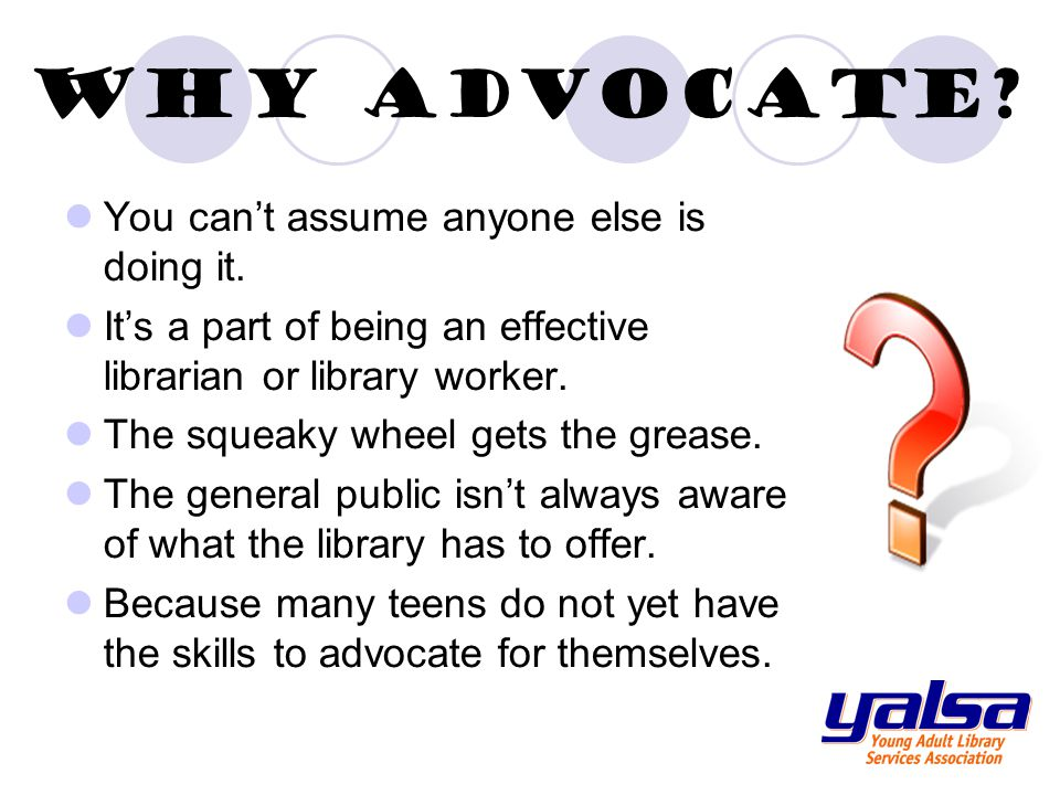Continuing Education Resources Stay current with developments in advocacy through YALSA's webinars.