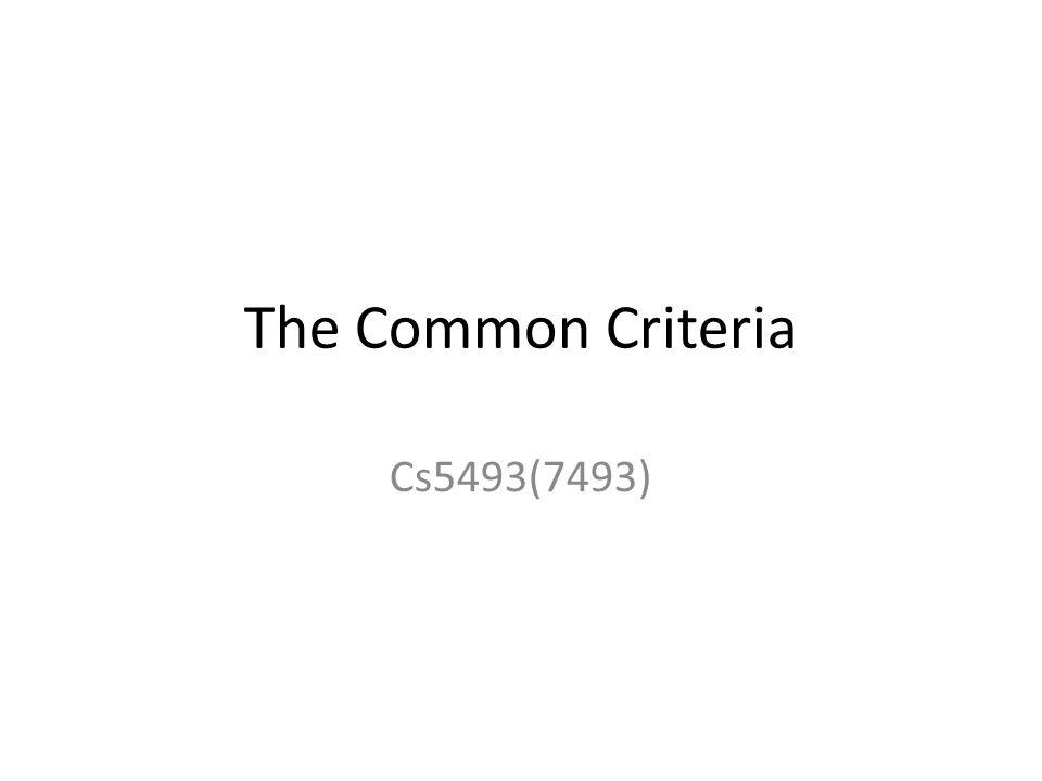 The Common Criteria Cs5493(7493)