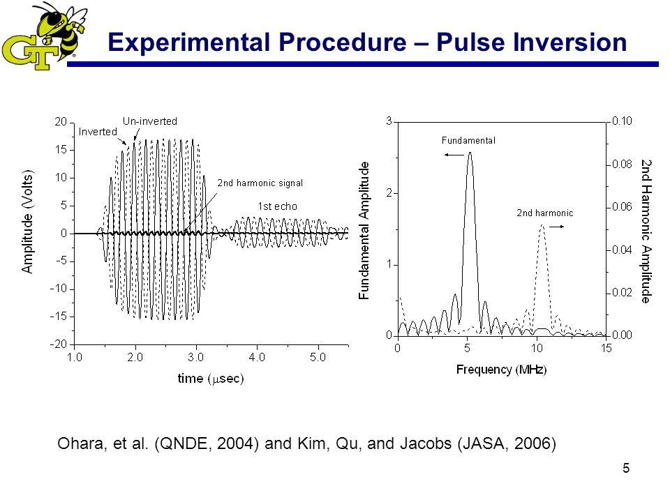 5 Experimental Procedure – Pulse Inversion Ohara, et al.