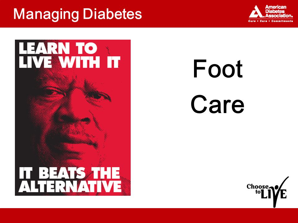 Managing Diabetes Foot Care