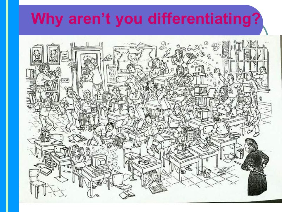 Why aren't you differentiating?