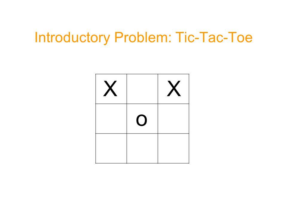 Introductory Problem: Tic-Tac-Toe X X o