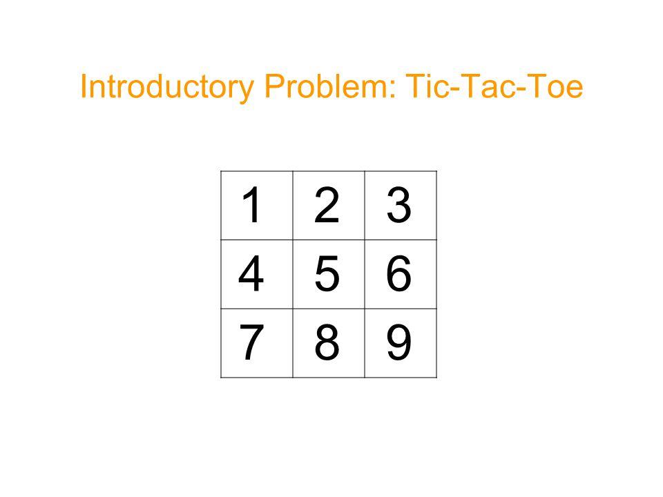 Introductory Problem: Tic-Tac-Toe 1 2 3 4 5 6 7 8 9