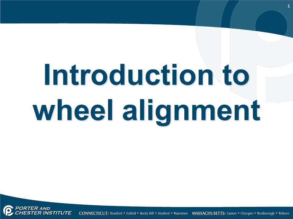 1 Introduction to wheel alignment
