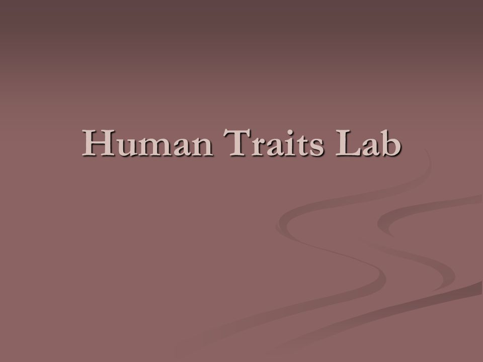 Human Traits Lab