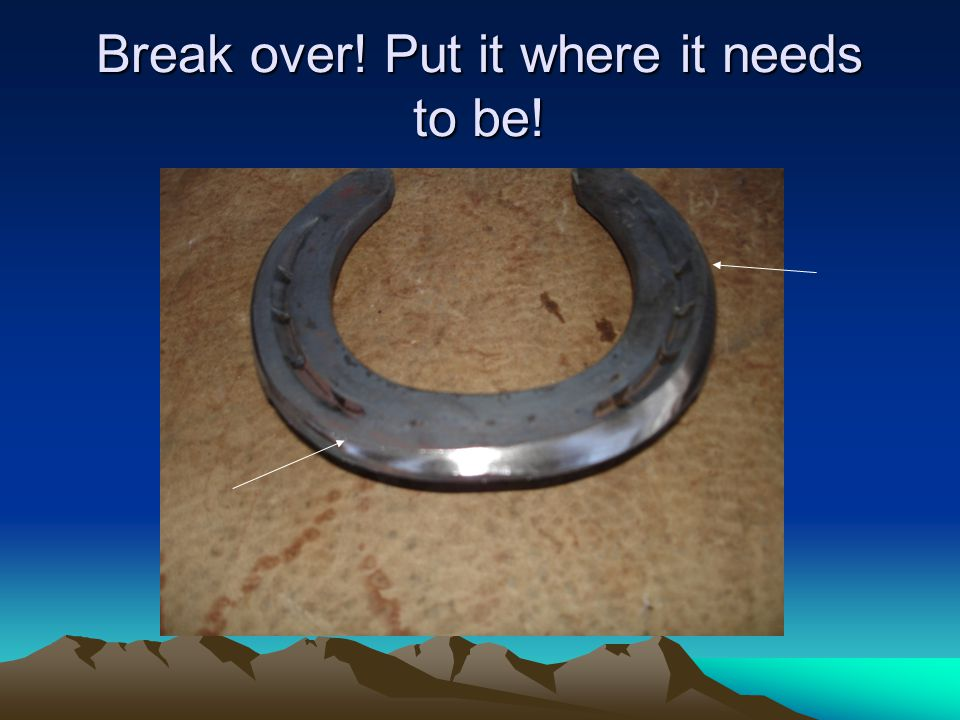 Break over! Put it where it needs to be!