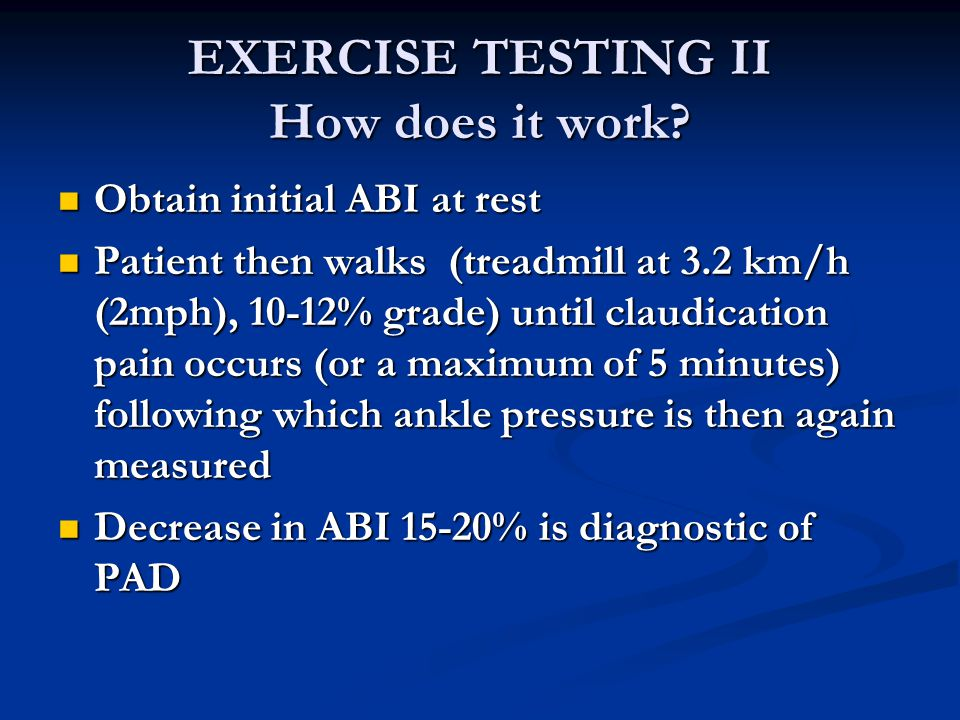 EXERCISE TESTING II How does it work.