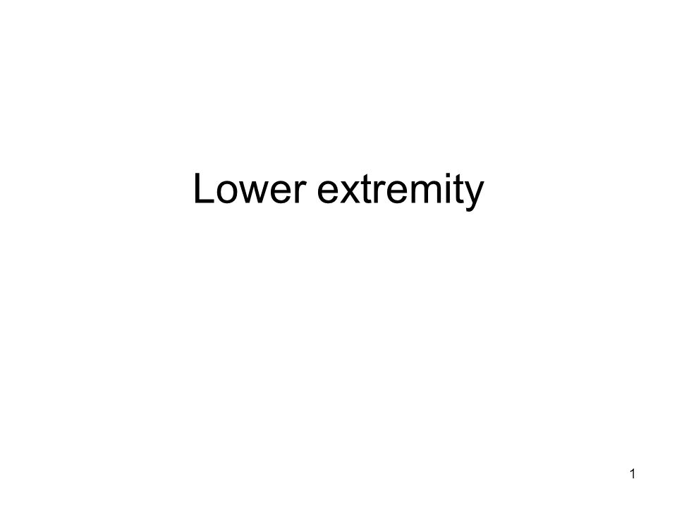 Lower extremity 1
