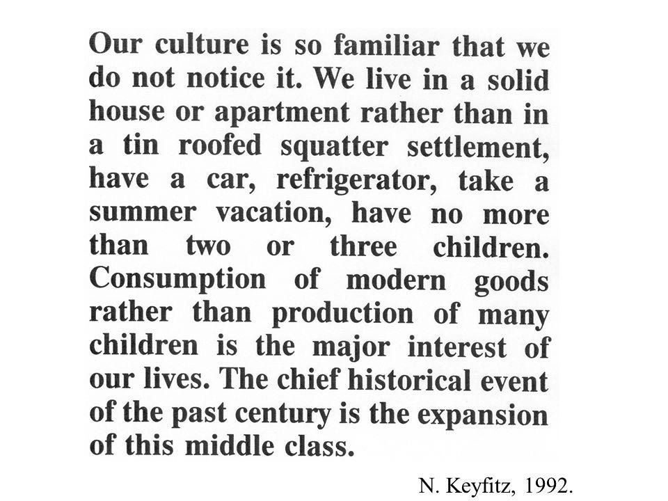 Keyfitz quote N. Keyfitz, 1992.