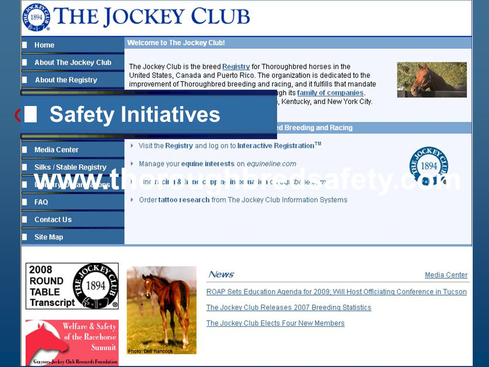 Thoroughbred Safety Committee www.thoroughbredsafety.com Safety Initiatives